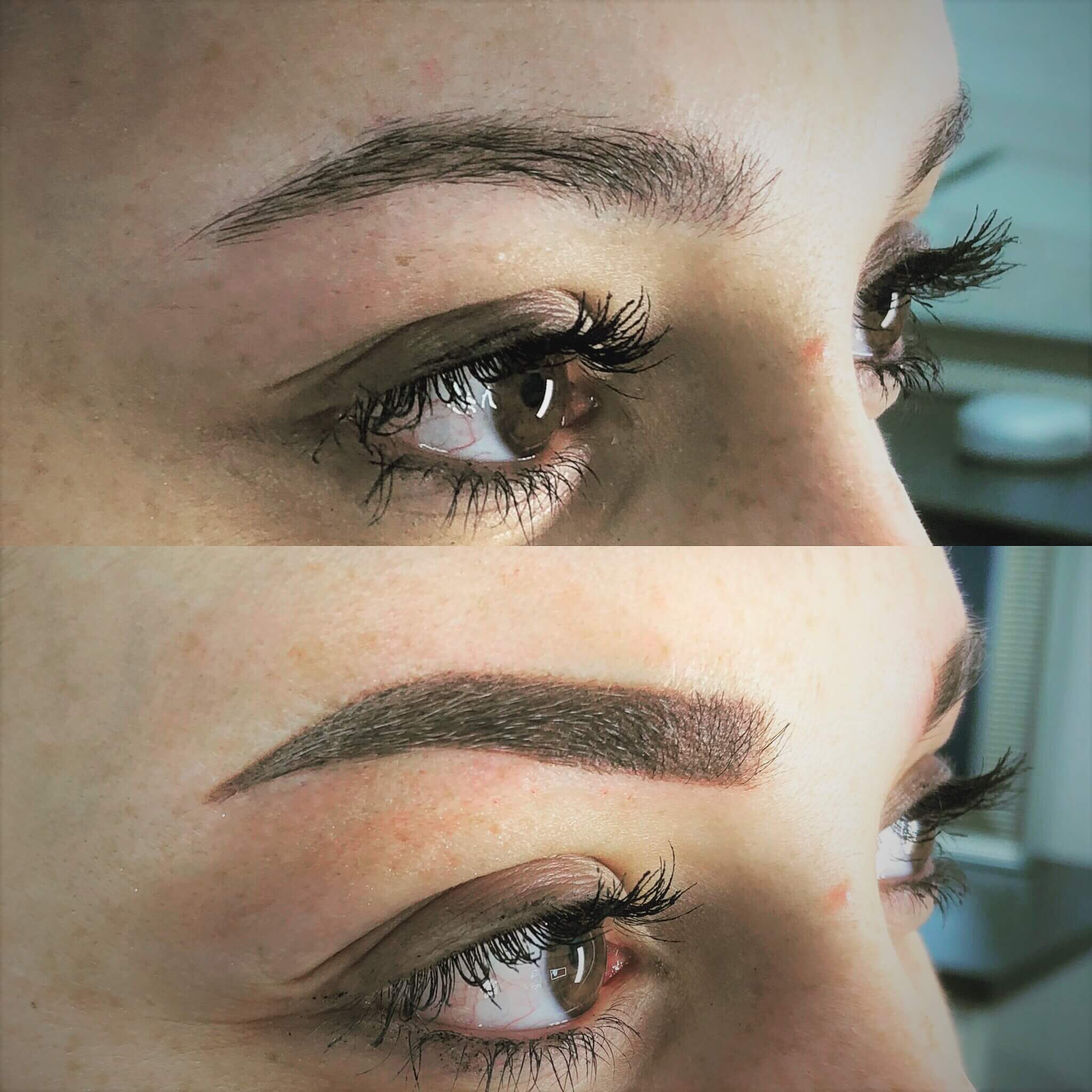 sourcils poudrés maquillage permanent